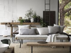 The perfect items for a calm zen-like home. SINNERLIG daybed / IKEA