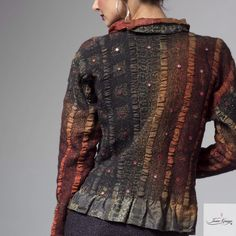 My pieces are built rather than sewn. My designs are decidedly feminine - I seek to drape the body with the same beauty and grace of the traditional Indian sari I use in my work. I consider each...