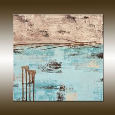 Original Abstract Art Painting Acrylic Canvas Modern by HWinfield