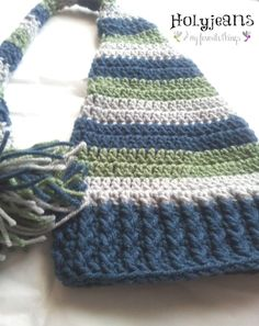 Long Tailed Baby Hat Crochet Pattern - Holyjeans and My Favorite Things