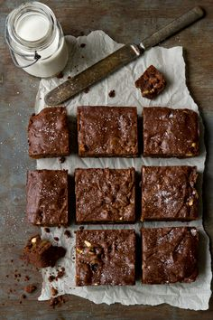 Salted Caramel Brownies | mybakingaddiction.com