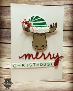 Merry Christmoose! by Dani D - Cards and Paper Crafts at Splitcoaststampers