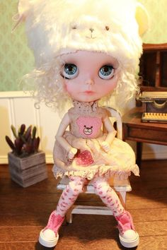 OOAK custom blythe doll / 2nd payment by PaisleyMaeDesigns