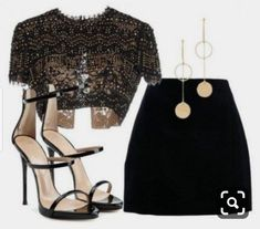 Night Out Outfit, Night Outfits, Classy Outfits, Stylish Outfits, Black Outfits, Classy Party Outfit, Beautiful Outfits, Winter Outfits, Summer Outfits