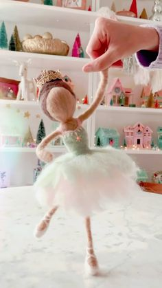 studiodiy on Instagram: How to make a needle felted Sugar Plum Fairy! 🩰💫 Or at least, a little glimpse at it! The full video, photo & written tutorial, if you… Sugar Plum Fairy, Needle Felting, Audio, Flower Girl Dresses, Create, How To Make, Instagram, Nutcrackers, Bridesmaid Gowns
