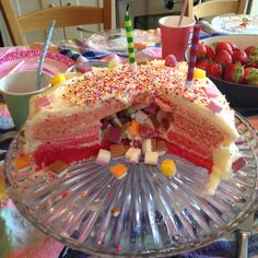 Dolly Mixture Pink Ombre Piñata Cake