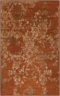 RugStudio Presents Rugstudio Sample Sale 73070R Rust Red Hand Tufted