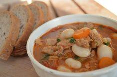 Držková polievka s bielou fazuľou a zeleninou