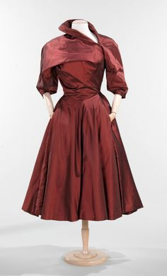 Charles James Dress 1950, Brooklyn Museum Costume Collection at the Met