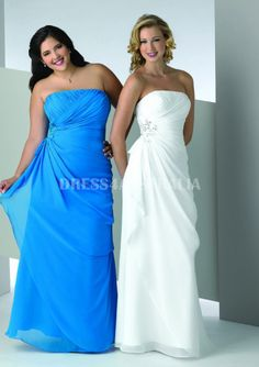 Cheap and Australia Plus Size A-line Strapless Chiffon Overlay Ruched Modest Mothers Dresses by Bony from Dresses4Australia.com.au
