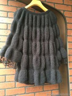 Lace Knitting Patterns, Dress Sewing Patterns, Knitting Designs, Crochet Jacket, Knitted Poncho, Knit Jacket, Knit Fashion, Sweater Fashion, Diy Crafts Knitting