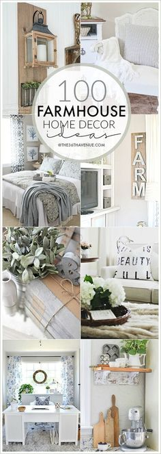 Farmhouse Decor Ideas - Beautiful DIY Home Decor that you can do. Pin it now and make it them later!