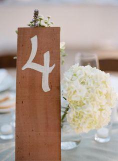 #table-numbers  Photography: Raya Carlisle Photography - rayaphotography.com Floral Design and Coordination: Toast - toastsantabarbara.com  Read More: http://stylemepretty.com/2013/03/08/santa-barbara-wedding-from-raya-carlisle-photography/