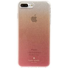 Women's Kate Spade New York Glitter Ombre Iphone 7 & 7 Plus Case (125 BRL) ❤ liked on Polyvore featuring accessories, tech accessories, phone cases, phones, tech, cases, pink glitter and kate spade