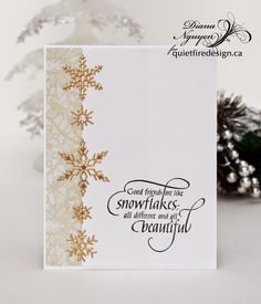 Diana Nguyen, Impression Obsession, snowflakes, Quietfire Design