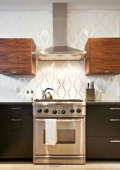 16 Creative Ways to Use Wallpaper in the Kitchen | Pinterest ...