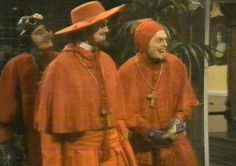 """Urrr...come in""      (suddenly...... the Spanish Inquisition)"