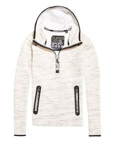 Superdry Gym Tech Half Zip Hoodie Cream Men's Super Hero Shirts, Women's Super Hero Shirts, Leggings, Gadgets