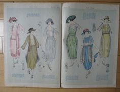 August 1920 Elite Styles Fashion Pattern Book (55 pgs) Magazine 1920s | eBay