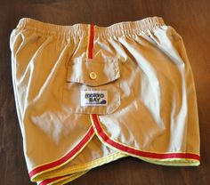 Vintage Morro Bay Men's Swim Trunks Running Shorts Who loves Short Shorts? Men's Large 36/38 Great Looking Ready 2 Wear Pool Party Time by somewhereintheattic on Etsy