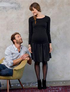 Robe effet 2 en 1 de grossesse NOIR - vertbaudet enfant