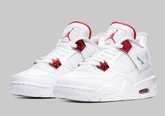 Moda Sneakers, Metallic Sneakers, Sneakers Mode, Sneakers Fashion, Jordans Sneakers, Shoes Sneakers, Jordan 4, Nike Jordan Retro 4, Michael Jordan