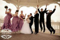 Wedding party photography. Lavender wedding