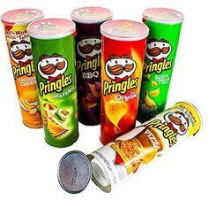 Bewild Pringles Stash Can - Diversion - Safe - Hide Valuables - (Bi-Mar Assorted Flavors Packages Pringles Pizza, Pringles Dose, Pringles Can, Pringle Flavors, Stash Containers, Stash Jars, Diversion Safe, Can Safe, Hide Money