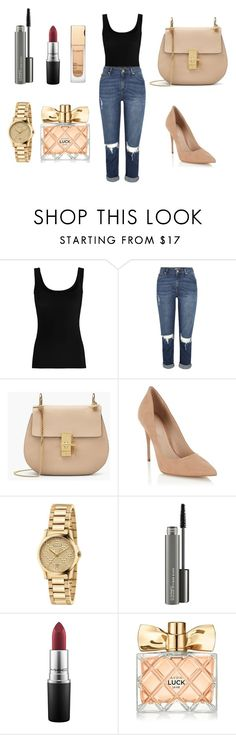 """Fashion"" by aida1412 ❤ liked on Polyvore featuring Twenty, Lipsy, Gucci, MAC Cosmetics, Avon and Clarins"