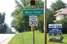 What Cheer, Iowa Hank's town My Happy Place, The Good Place, Northwestern College, Impractical Jokers, Washington County, Iowa Hawkeyes, Old Signs, Good Ole, Family History