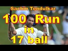 Sachin Tendulkar 100 Run in 17 Ball   World Biggest Cricket Highlightsr ...
