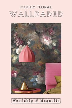 Our take on the 'Dutch Masters' moody floral look. Ava Marika is a dark, expressive floral originating from Yorkshire handpainted by a true master SHOP NOW Floral Print Wallpaper, Bold Wallpaper, Unique Wallpaper, Flower Wallpaper, Wallpaper Roll, Floral Prints, Wallpaper Ideas, Eclectic Design, Interior Design