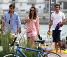 Kate Middleton on vacation with family in 2007