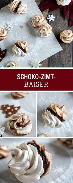 Weihnachtsbäckerei: Rezept für Schoko-Zimt-Baiser / christmas recipes : chocolate baiser with cinnamon via DaWanda.com
