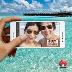http://www.huaweidevice.fr/smartphones/smartphones-4g/ascend-p7 1, 2, 3, souriez ! L'été sera sous le signe des groufies ! #AscendP7 #smartphone