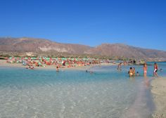The sandy beach of Elafonisi in Chania..