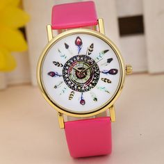 2016 Fashion Rose Flower Print Silicone Floral Jelly Sports Quartz Watches Clocks For Women Men Girls Relogio Feminino