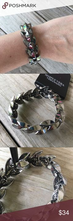 BRAND NEW Vera Wang Stretch Gunmetal Bracelet Brand new with attached tags. Stretchy. Has some weight to it. Simply Vera Vera Wang Jewelry Bracelets