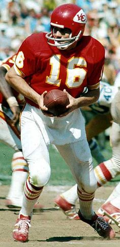 Len Dawson played QB for The Chiefs from 1963-1975. He led the Chiefs to win Super Bowl IV in 1969. He was inducted into the Hall of Fame in 1987.