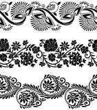 Floral vector borders Royalty Free Stock Photography