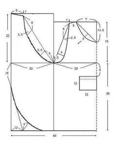Billedresultat for japanese apron pattern Sewing Aprons, Dress Sewing Patterns, Sewing Clothes, Sewing Hacks, Sewing Crafts, Sewing Projects, Japanese Apron, Techniques Couture, Apron Designs
