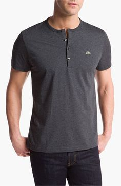 Lacoste Short Sleeve Henley T-Shirt available at #Nordstrom