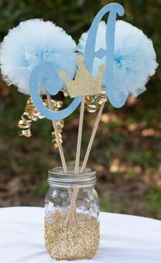 Boy Baby Shower Ideas Blue And Gold.Elegant Blue And Gold Prince Baby Shower Baby Shower . Kara's Party Ideas Wish Upon A Star Themed Baby Shower. Décoration Baby Shower, Mesas Para Baby Shower, Girl Shower, Shower Party, Baby Shower Parties, Baby Shower Themes, Baby Shower Gifts, Royal Baby Shower Theme, Royal Theme