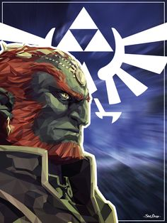 Version lowpoly de Ganondorf, l'ennemi ultime de Link dans la série Zelda.