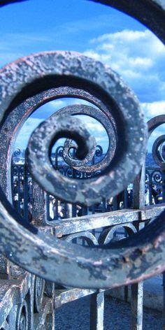 """blue spiral"" Beautiful blues. S"