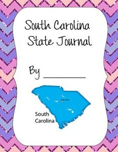 This is a journal set for students to write about their states.  It includes a cover page, a writing page and a photo page.
