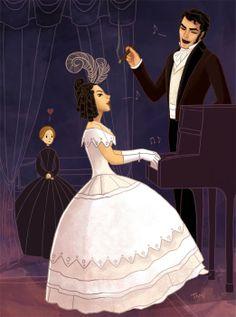 Jane, Blanche, Mr. Rochester illustration.