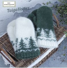 Taiga Votter | Strikkoteket Fingerless Mittens, Knit Mittens, Knitted Hats, Knitting Designs, Knitting Patterns Free, Knitting Projects, Knitting Yarn, Fair Isle Knitting, Baby Knitting