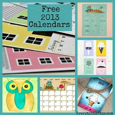 25 Free 2013 Printable Calendars - Why buy one when you can print these!!!