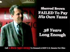 """""""Stop Brown"""" from the Senate Conservatives Fund opposes Sen. Sherrod Brown, D.-Ohio. 9/4/12"""